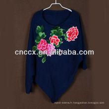 13STC5652 Mode dame pull en laine style chinois dolman manchon haut