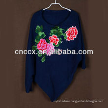 13STC5652 Fashion lady woolen sweater chinese style dolman sleeve top