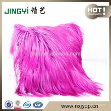 Mode rose couleur canapé canapé en fourrure de chèvre housse de coussin décor à la maison