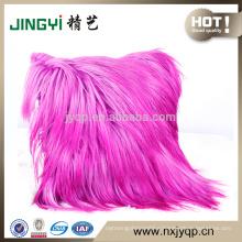 Fashion Pink Color Sofa Goat Fur Cushion Cover Home Decor