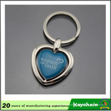 Heart Shape Blank Key Chain with Your Logo