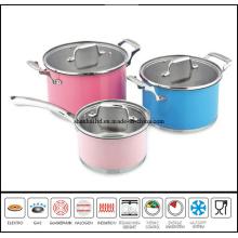 6 PCS Color Coating Cookware Set