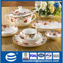 Imprimerie russe imprimer série de jardin porcelaine style printemps accessoires de service