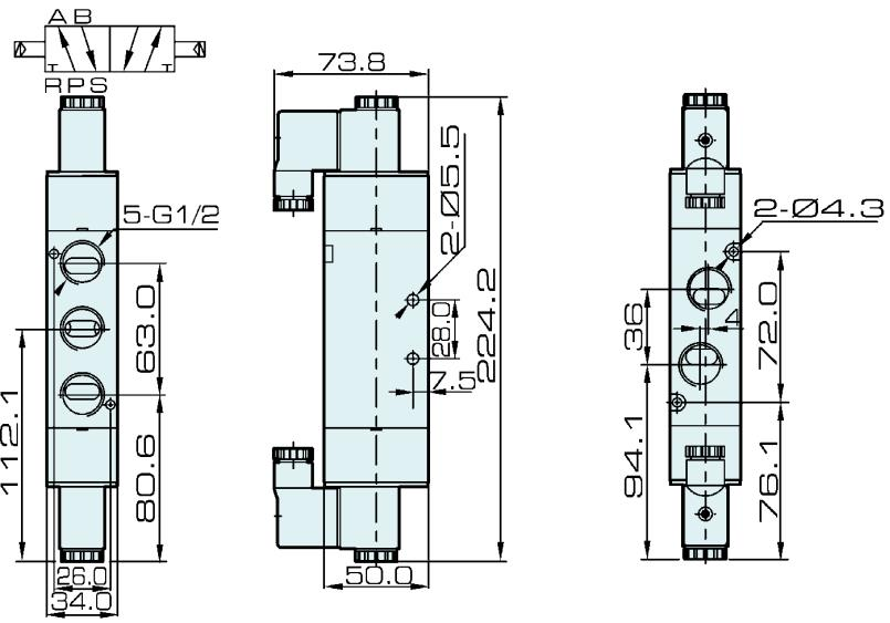 4V420-15 AirTAC Type 5/2 Way Solenoid Valve
