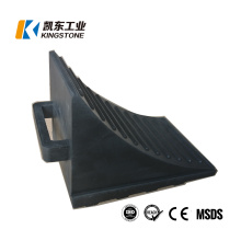 Cheap Custom Top Quality Rubber Car Wheel Chock for Tyre Stopping