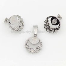 Dignity silver crystal ladies sets jewelry , luxury jewelry sets hot sale