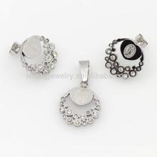 As senhoras de cristal de prata da dignidade ajustam a jóia, venda quente dos grupos da jóia do luxo