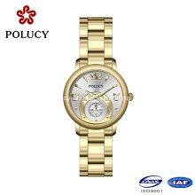 Nova chegada de luxo esportes casuais quartzo relógio completo inox relógio de pulso