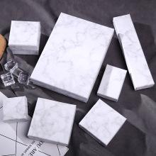 Marble Vein Art paper Cardboard Gift box Sponge