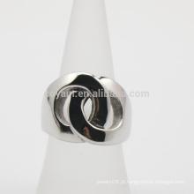 2 círculos ligados em forma de aço inoxidável Promessa Anéis para namorada