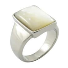 Schmucksache-Weiß-Steinring-Art- und Weiseeiner Frauen-Ring