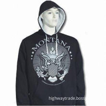 Men's Hood Pullover with Customized Logo on Front, Made of 100% Cotton
