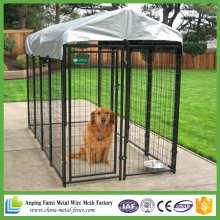 Novos produtos 2016 Black Powder Coated Welded Dog Canil de alta qualidade