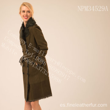 Revestible Lady Merino Shearling Coat en invierno