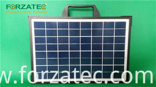 Integrated solar lithium power bank