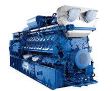 MWM ガスエンジンと発電機
