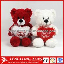 Пользовательские плюшевые игрушки медведя плюшевого медведя игрушечного медведя для подарков дня Святого Валентина