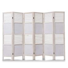 Panel divisor de madera con tabique divisor de puerta