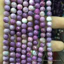 Piedra preciosa semipreciosa 4mm Faceted Natural Purple Loose Beads Piedra preciosa
