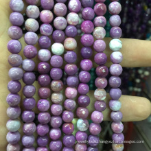 semi precious gemstone 4mm Faceted Natural Purple Loose Beads Gemstone Stone