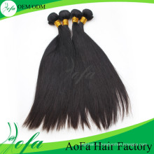 Необработанные Девственные Наращивание Волос Натуральный Черный Человеческих Волос