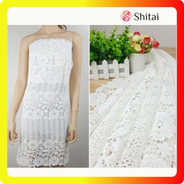 Hot selling fancy lace wedding fabric