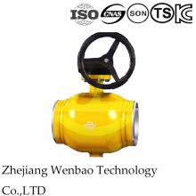 Válvula de esfera manual inteiramente montada Trunnion da soldadura para a indústria