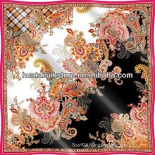 Italian Paisley Style Silk Foulard 2014