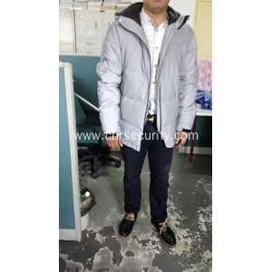 reflective coat made of 100%polyster reflective fabric