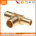 3/4 brass plumbing tee for boiler valve brass gas fittings