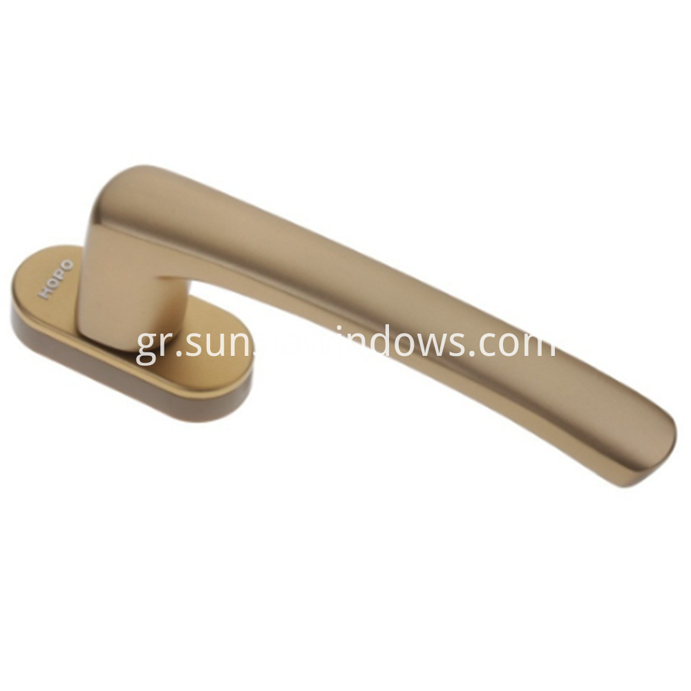 succinct durable modern casement windows door square spindle handle gold color