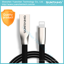Цинковый сплав USB кабель для передачи данных быстрая зарядка кабель для iPhone