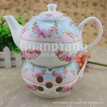 Различные красивые цветы печати эмали чайного горшка
