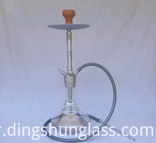 Detachable single tube glass hookah