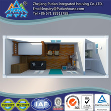 20ft container house with toilet