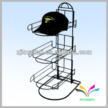 Hot selling fashion department store free standing metal hat display rack