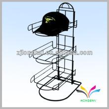 Горячий продавать мода универмаг свободный стоящий металл шляпа дисплей стойки