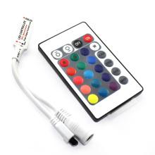 Alta calidad DC5-24V 6A Wireless IR Remote Mini 24 teclas LED RGB Controller para RGB LED luces de tira