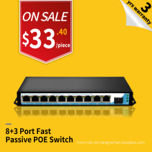 100 mbps 24 v poe midspan poe 8 puertos poe switch para AP IPC VOIP