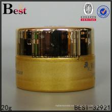 contenedor de crema para el cuidado del tarro de crema de vidrio de color dorado