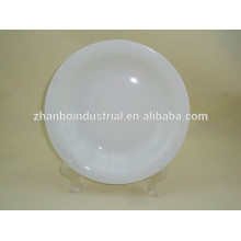 Daily use white round porcelain fruit plate for hotel