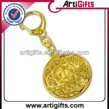 Wholesale strass porte-clés avec plaqué or