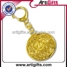 Wholesale rhinestone keychains with gold plated