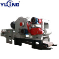 Drum wood chipper crusher