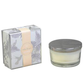 Eco Soy Wax Candle in Recyclable white Glass Jar