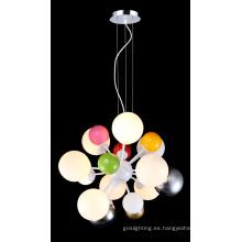 Lámpara de techo de vidrio moderna multicolor caliente (MD4035-CF)
