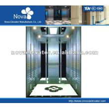 Hairline/etching/mirror stainless steel elevator for office, electrical