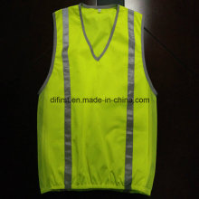 Fashion Safety Vest with Refleective Tape 100%Polyester Trico Fabric