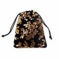 Black small gift velvet bag for wedding
