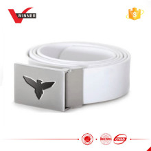 Solid Rechteck Silikon Gürtel mit Adler Logo geprägt